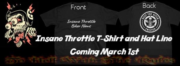 Insane throttle tshirts and hats