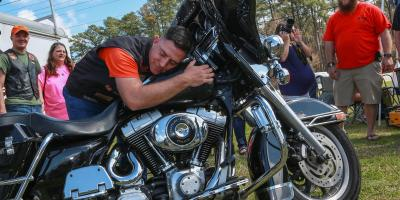 Bikers 4 blessings give marine new bike insane throttle biker news