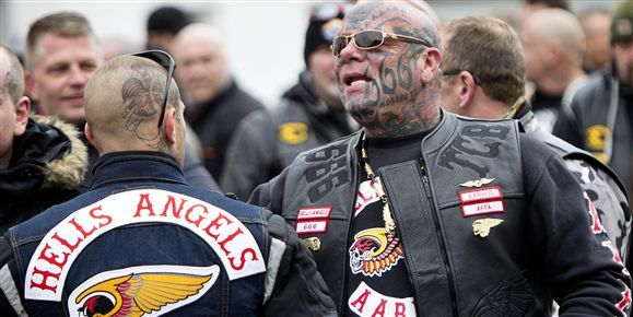 Hells Angels and rival Outlaws came head to head in two separate