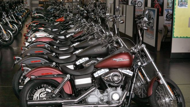 Harley no longer king. Sales falling steep