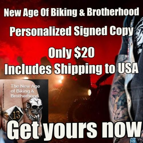 Signed copy of New Age of Biking and Brotherhoods